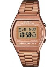 Casio B640WC-5AEF Panie retro zbiorem wzrosła złoty zegarek