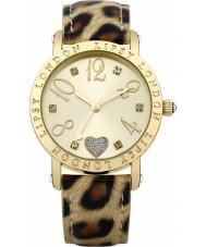 Lipsy LP124 Ladies złota i druk zegarek zwierząt