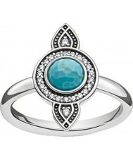 Thomas Sabo TR2090-646-17-54 Panie srebrne Dreamcatcher etno ring - o rozmiarze (UE 54)