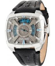 Police 14796JS-61 Mężczyźni g force czarny skórzany pasek do zegarka