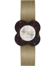 Orla Kiely OK4030 mak Ladies tortoiseshell przypadku bransoletka oczek złoty zegarek