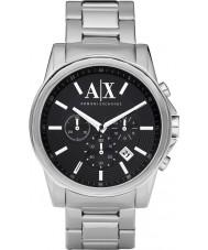 Armani Exchange AX2084 Mens czarny srebrny zegarek chronograf strój