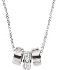 Emporio Armani EG3046040 Podpis Ladies srebrny naszyjnik ze srebrnym łańcuchem Rolo