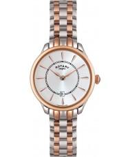 Rotary LB02917-02 zegarki damskie elise two tone wzrosła złoty zegarek