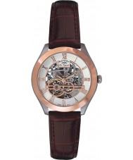 Rotary GS90511-21 Mężczyźni les originales jura automatyczne szkielet wzrosła złoty zegarek