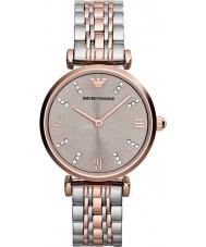 Emporio Armani AR1840 Panie classic stal i wzrosła złoty zegarek