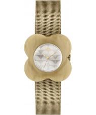Orla Kiely OK4032 mak Ladies przypadku róg siatki złoty zegarek bransoletka