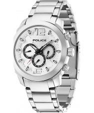 Police 13934JS-04M Mężczyźni triumfować srebrny zegarek stalowy