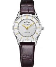 Rotary LS90800-02 Panie Ultra Slim brązowy skórzany pasek do zegarka