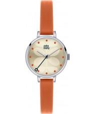 Orla Kiely OK2013 Panie bluszcz pomarańczowym skórzanym paskiem zegarek