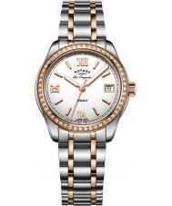 Rotary LB90175-01 zegarki damskie Legacy two tone stalowa bransoleta zegarka