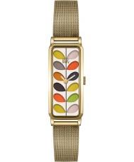 Orla Kiely OK4034 Panie macierzystych druku bransoletki siatki złoty zegarek