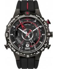Timex T2N720 Mens wszystko Black Tide Temp kompasu zegarek