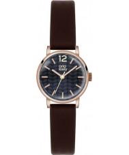 Orla Kiely OK2014 Panie Frankie ciemnobrązowy pasek skórzany zegarek