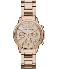 Armani Exchange AX4326 Sukienka damska wzrosła pozłacany zegarek chronograf
