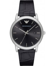 Emporio Armani AR2500 Mens Sukienka czarny skórzany pasek do zegarka