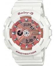 Casio BA-110-7A1ER Panie baby-g czas światowy biała żywica pasek zegarka