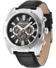 Police 13938JS-02 Mężczyźni bunt cronograph czarną skórzaną zegarek