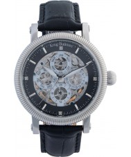 Krug-Baumen 60211DM Mens majestatyczny czarny skórzany pasek zegarka