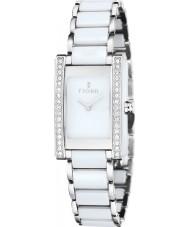Fjord FJ-6013-33 Panie vihelmina srebrny biały ceramiczny zegarek