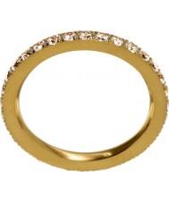 Edblad 216130151-M Ladies świecić matowy złoty pierścionek - Rozmiar p (m)