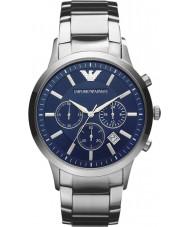 Emporio Armani AR2448 Męskie klasyczne niebieski srebrny zegarek chronograf