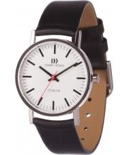 Danish Design V12Q199 Panie czarny skórzany pasek do zegarka