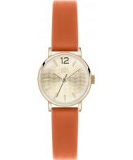 Orla Kiely OK2016 Panie Frankie pomarańczowy zegarek skórzany pasek