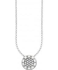 Thomas Sabo KE1493-051-14-L45v Panie podpis srebrzysty klasycznie cyrkonu naszyjnik Pave
