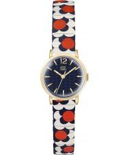 Orla Kiely OK4040 Panie pop kwiat czerwony biały niebieski rozszerza bransoletka zegarek