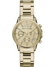 Armani Exchange AX4327 Panie ubierają pozłacany zegarek chronograf