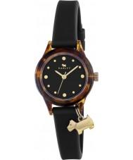 Radley RY2324 oglądać go Panie! czarny pasek na zegarek ze złotymi pasemkami