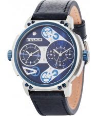 Police 14693JSTBL-03 Mężczyzna steampunk niebieski skórzany pasek zegarka