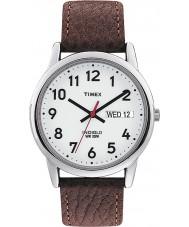 Timex T20041 Mężczyzna biały brązowy łatwy zegarek czytnika