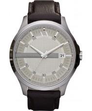 Armani Exchange AX2100 Mens ciemnobrązowy pasek skórzany strój zegarek