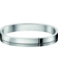 Calvin Klein KJ3PMD09010L Mężczyźni skonstruowane srebrny ton stalowa bransoletka