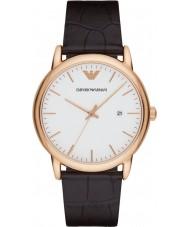 Emporio Armani AR2502 Męskie klasyczne ciemnobrązowy skórzany pasek zegarka
