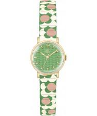Orla Kiely OK4042 Kwiat pop Ladies różowy krem zielony rozszerza bransoletka zegarek