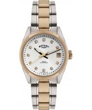 Rotary LB02662-02 zegarki damskie Havana two tone wzrosła złoty zegarek