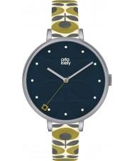 Orla Kiely OK2135 Panie bluszcz krem skórzanym paskiem zegarek