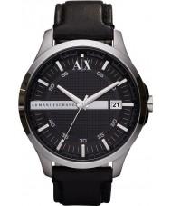Armani Exchange AX2101 Mens czarny skórzany pasek strój zegarek