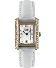 Rotary LS02652-41 zegarki damskie biały skórzany pasek zegarka