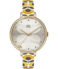 Orla Kiely OK2136 Panie bluszcz żółty skórzany pasek zegarka