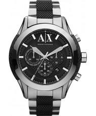 Armani Exchange AX1214 Mens czarny srebrny zegarek sportowy chronograf