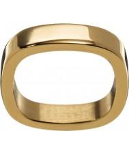 Edblad 2153441876-XS Panie jolie żółty pozłacany pierścień - rozmiar L (XS)