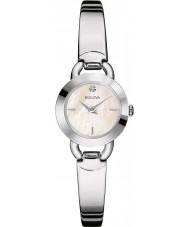Bulova 96P154 diamenty Women srebro stal bransoletka zegarek