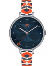 Orla Kiely OK2137 Panie bluszcz krem skórzanym paskiem zegarek