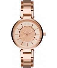 Armani Exchange AX5317 Panie miejskich wzrosła pozłacane bransoletę zegarka
