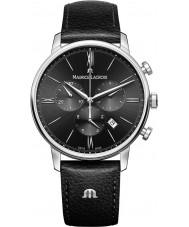 Maurice Lacroix EL1098-SS001-310-1 Męska Eliros czarny skórzany pasek zegarka Chronograph