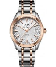 Rotary LB90167-06 zegarki damskie Legacy two tone stalowa bransoleta zegarka